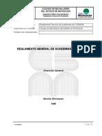 Reglamento General de Academias