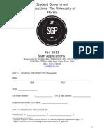 SGP Fall 2013 Staff Application