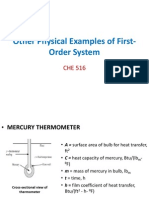 Other Physical Examples of First-Order System_LEC 5
