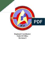 SFI Region 15 - RC Oath of Office