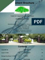 M.tech Bioinfo Brochure 2014