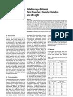 [Yarn Diameter Diameter Variation and Strength]