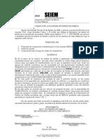 Acta de Acuerdos de La Sociedad de Padres de Familia 2008-2009