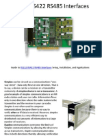 RS232 RS422 RS485 Interfaces