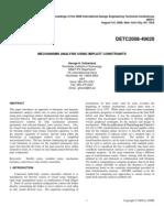 Mechanism Analysis Using Implicit Constraints Final