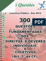 exercicios DOS DIREITOS E DEVERES INDIVIDUAIS E COLETIVOS-ART.5º DA CF-apostila amostra