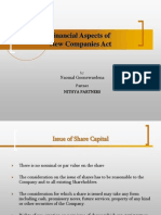 Financial Aspect of New Companies Act