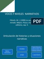 Voces y Niveles Narrativos