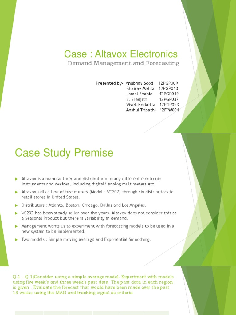 the altavox electronics forecasting case The growing adoption of subscription and as-a-service solutions have built a meaningful sales backlog that will be recognized in future quarters.