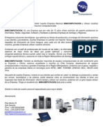 Carta de Presentacion 2013