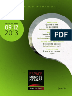 Programme de l'Espace Mendès France de septembre 2013 à janvier 2014, Poitiers