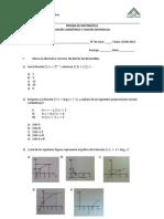 Prueba Función Logarítmica y Función Exponencial IV° Medio