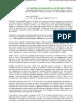 ARTIGO_ PEC 75 - Um atentado à independência do Ministério Público. - Notícias - FONACATE