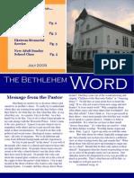 Bethlehem Word June 09
