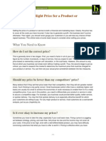 64267-Determining the Right Price for a Product or Service