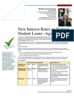 New Interest Rates on Federal Student Loans--Again