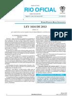 Ley  1616 - 2013