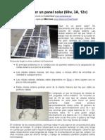Cómo hacer un panel solar