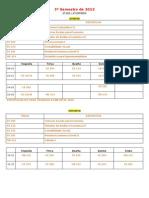 Proposta de Horario 2 Sem 2013