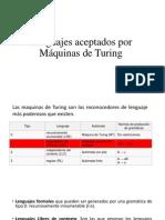 Lenguajes aceptados por Máquinas de Turing