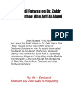 Deobandi Fatwas on Dr Zakir