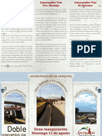 Tarjeta de Invitacion Inauguracion Intercambios Viales
