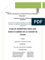 Plan de Marketing Floreria