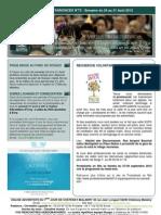 Bulletin d'annonces N° 73 Semaine du 24 au 31 aout 2013