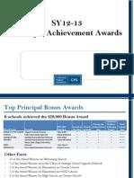 Principal Achievement Award Winners