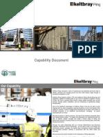 Keltbray Piling Capability Document (Circa 2013)