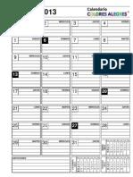 Calendario 2013 Libre Dia x Dia Completo
