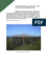 Estructuras Domésticas. Rapa Nui (I)