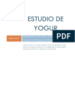 Estudio de Yogur - Informe FINAL Enero 2010