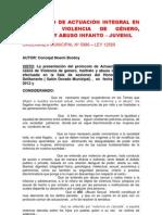 Protocolo de Actuacion Integral en Caso de Violencia de Genero, Maltrato y Abuso Infanto-juvenil