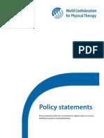 Wcpt_declaraciones de Politica Fisio 2013