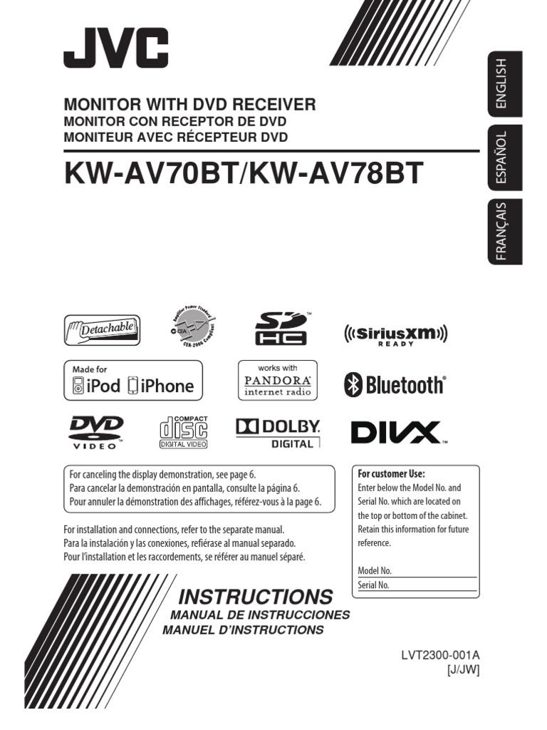 Manual Estereo Jvc Kw Av70bt Av78bt I Pod Phone Veti Plug Wiring Diagram