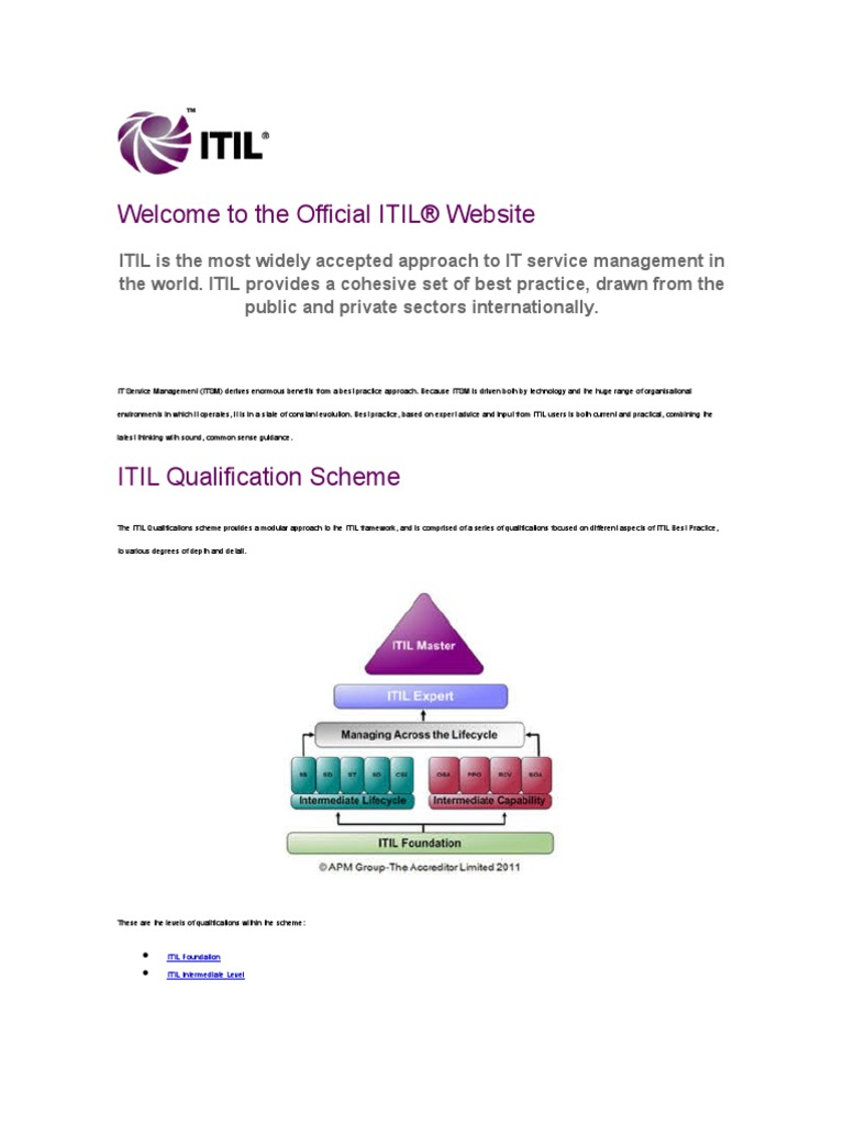 Itil itil it service management 1betcityfo Gallery