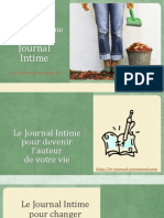Journal Intime - Vaincre Le Perfectionnisme