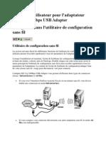 Guide de l'Utilisateur Pour l'Adaptateur Wifi