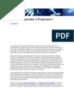 Por Qué Aprender A Programar