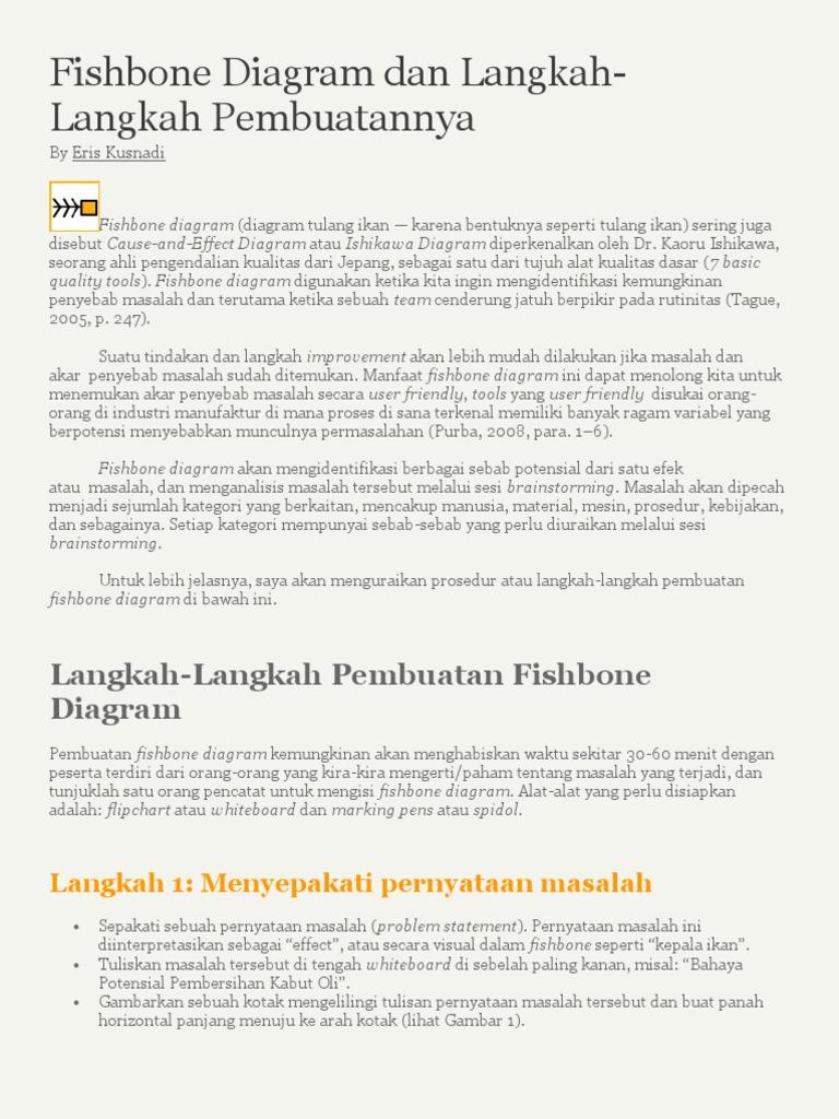 Fishbone diagram dan langkah langkah pembuatannya blog eris ccuart Image collections