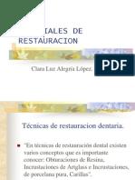 Materiales de Restauracion
