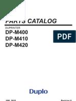 Manual de Parte DP-M410