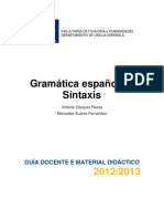 Sintaxis Gramatica