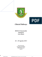 Dody Firmanda 2013 - Materi Pelatihan Clinical Pathways RSUD R Syamsudin SH, Sukabumi 28-29 Agustus 2013