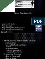09 Seguridad Basada en Claims y WIF (Windows Identity Foundation)