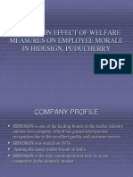 A study on effect of welfare measures on employee morale.ppt