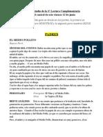 Guia de Estudio Lectura Complement Aria El Medio Pollo 12 Junio