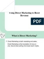 Using Direct Marketing to Boost Revenue