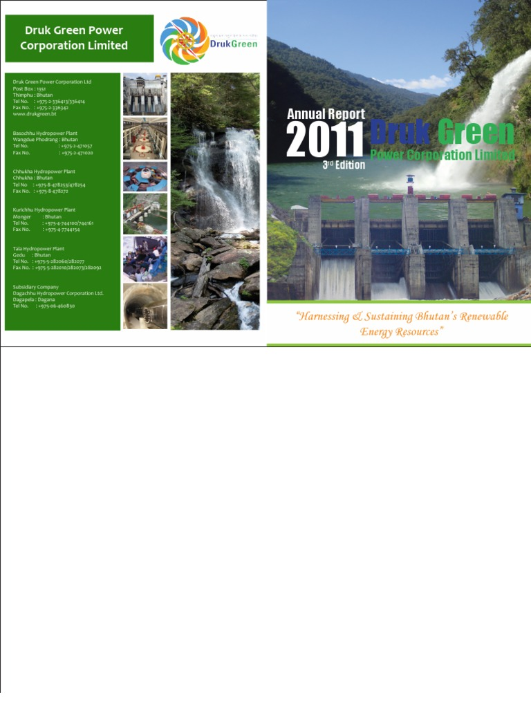 Dgpc Annual Report 2011pdf Audit Hydroelectricity